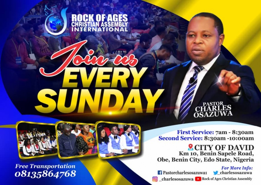 Worship with us every Sunday @ City of David